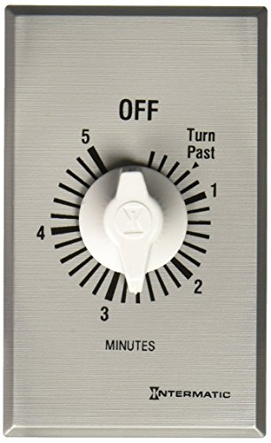 Wall Minute (Intermatic FF5M 5-Minute Spring Loaded Wall Timer, Brushed Metal)