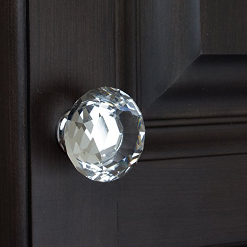GlideRite Hardware 9054-CR-40-25 K9 Crystal Diamond Shape Cabinet Knobs, 25 Pack, Large, Clear by GlideRite Hardware (Image #3)