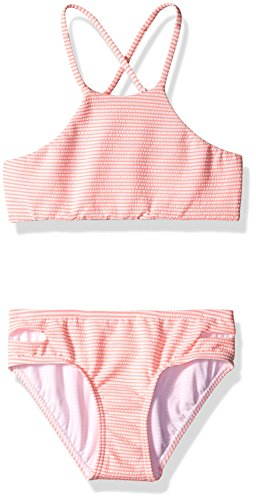 Seafolly Big Girls' Riviera Belle Tankini, Coral Pink, 10