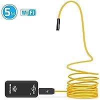VIFLYKOO WiFi Borescope Inspection Waterproof 2.0 MP HD 6 Adjustable LED Lights Snake Camera