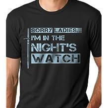 LeRage Shirts Men's | SORRY LADIES I'M IN THE NIGHT'S WATCH | Funny T-Shirt Black 2XL