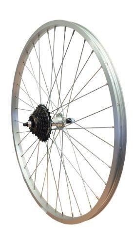 WHS Rueda Trasera de aleación para Bicicleta de montaña de 66 cm con Perno TWR943. Se coloca atornillándola + Piñón Libre 14/28 Shimano: Amazon.es: Deportes ...