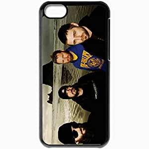 Personalized iPhone 5C Cell phone Case/Cover Skin 36 Crazyfists Twilight Island Waves Look Black