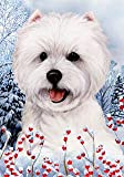 "West Highland White Terrier by Tamara Burnett Winter Berries Garden Dog Breed Flag 28"" x 40"" Review"