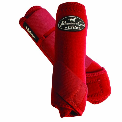 PROFESSIONAL'S CHOICE ★ ELITE VENTECH SET OF 4 SMB BOOTS ★ CRIMSON RED ★ ALL SIZES (Large)