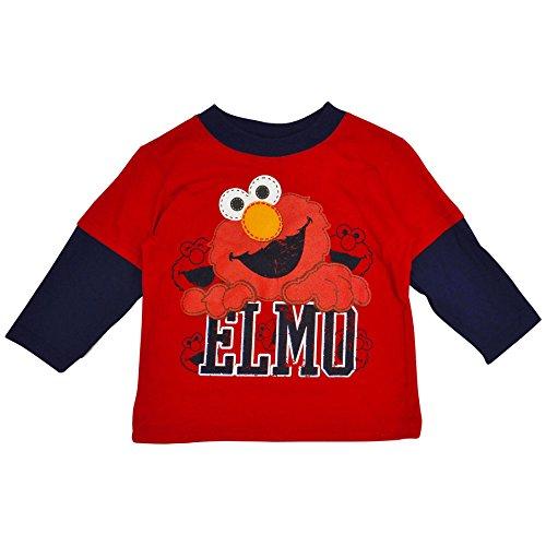 Sesame Street Elmo Layered Tee Shirt Toddler Boys 2T-5T (4T)