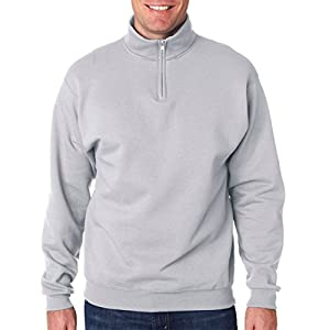 Jerzees Men's NuBlend Youth Hooded Sweatshirt ( Ash/Large)