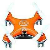 Haibei Cheerson Cx-10 Micro Drone 2.4GHz 4CH Giroscopio de 6 ejes Rc Quadcopter Airplane Super Mini UFO Drone RTF con luces LED (Orange)