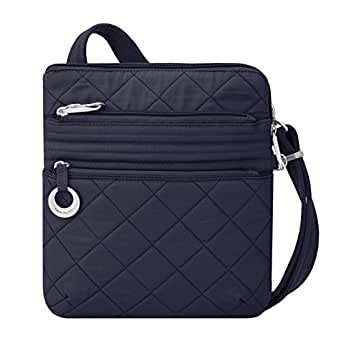 Travelon Women's Anti-theft Boho Slim Bag, Navy (blue) - 33225 350