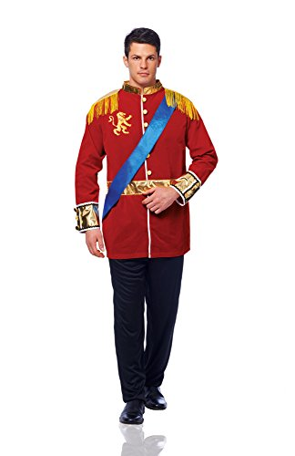 [Costume Culture Men's Prince Costume, Red, Standard] (Storybook Prince Adult Mens Costumes)