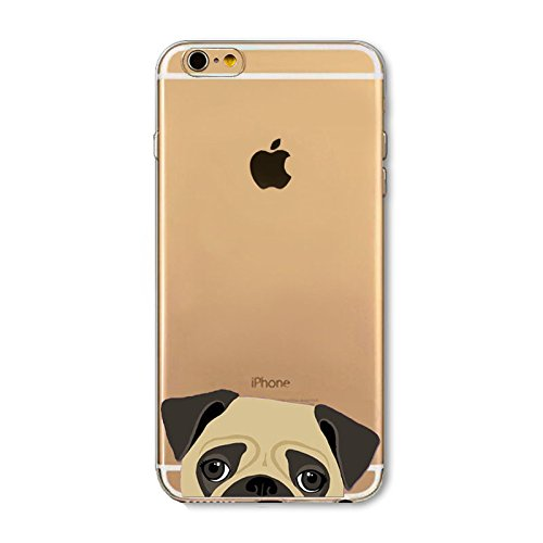 iPhone 6 Plus / 6S Plus, TPU Ultra Slim Silicone Case Cover for Apple - Dogs and Cats Series (Indian Boxers)