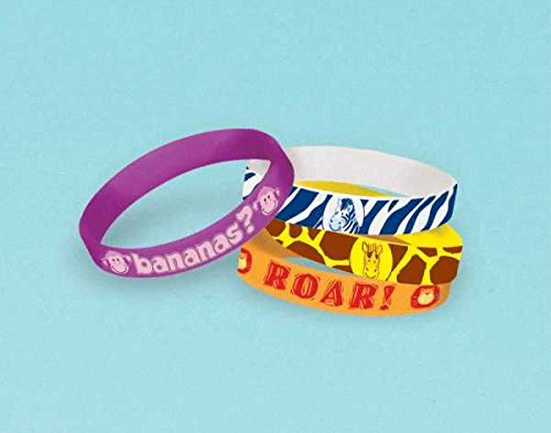 bracelet rubber jungle animals