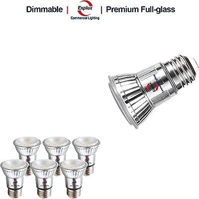 Explux Dimmable Full Glass PAR16 LED Flood Light Bulbs