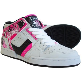 Osiris Becky Bones NYC 83 South Bronx Design Mid Top Trainers Boot  (White Pink)  Amazon.co.uk  Shoes   Bags bae231444e3
