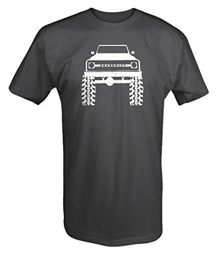 67-72 Chevy Full Size Blazer Lifted Mud Tires Truck T shirt -Medium