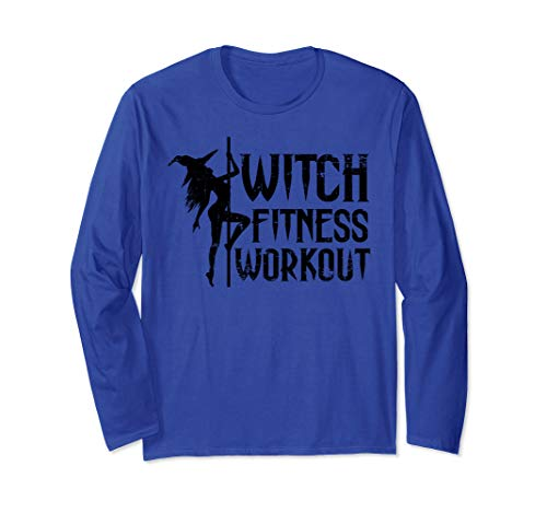 Witch Fitness Workout Funny Halloween Long Sleeve T-Shirt
