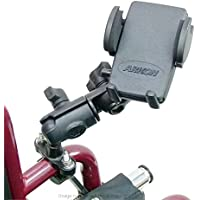 Wheelchair U-Bolt Mount with Double Socket Swivel Arm & Universal Phone Holder (sku 21559)