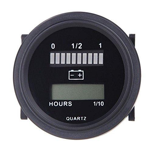 Docooler® 12V/24V/36V/48V/72V LED Digital Battery Status Charge Indicator with Hour Meter Gauge