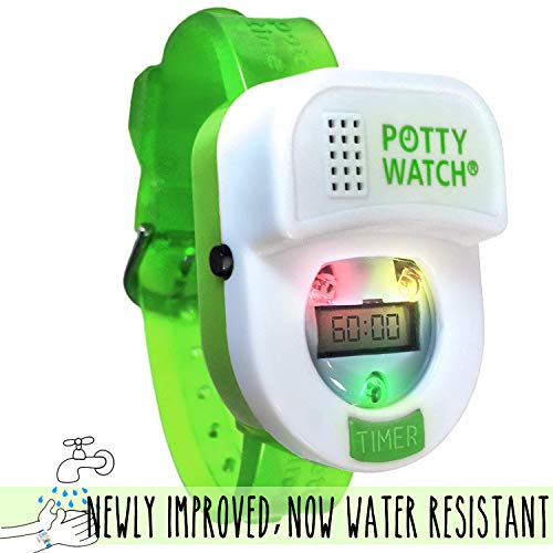 Potty Time: The Original Potty Watch | Newly Improved 2019 ~ Water Resistant | Toddler Toilet Training Aid, Warranty Included (Set Automatic Timers with Music for Gentle Reminders), (Green)