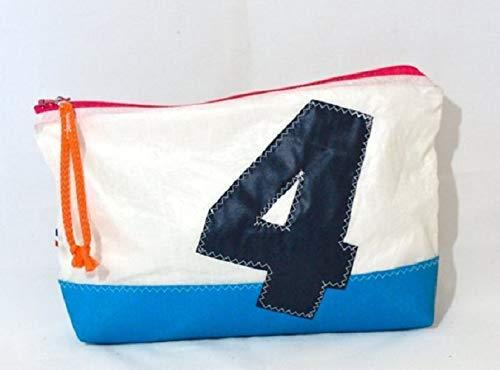 Upcycled sail spinnaker Makeup Bag, Toiletry Bag, Cosmetic Case & Travel Shaving Bag sailcloth-toiletry-bag