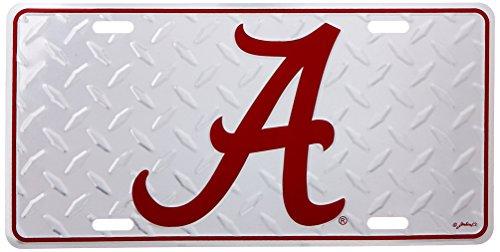 NCAA Alabama Crimson Tide Diamond Plate Car Tag