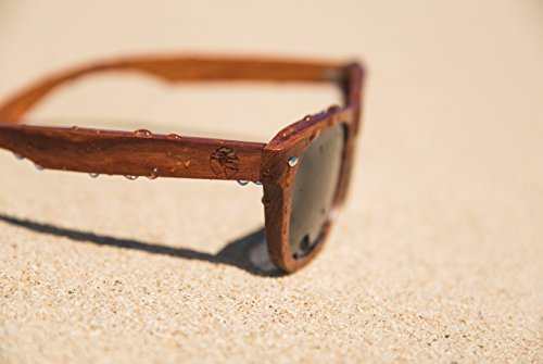 Real Solid Handmade Wooden Sunglasses for Men, Polarized Lenses with Gift Box (Sandalwood)