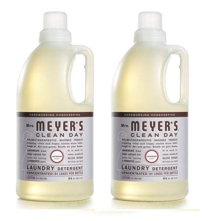 Mrs. Meyer's Laundry Detergent, Lavender, 64 fl oz (2) by by Mrs. Meyer's Clean Day