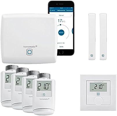 Contenido: Central, 4 termostatos para radiadores, 2 contactos de puertas y ventanas, 1 termostato de pared. ...