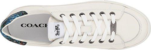 Top Blue Coach Sneaker Leather Floral White Womens C126 Black Low tUtw4q7Hg