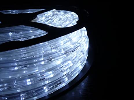 50FT COOL WHITE 3 WIRE CHASING LED ROPE LIGHT KIT. CHRISTMAS LIGHTING. OUTDOOR  ROPE