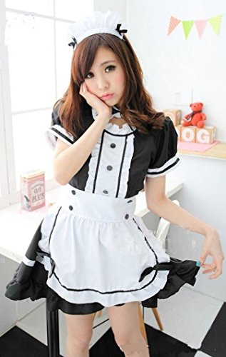 Cute-Lolita-Maid-Cosplay-Costume-Dress-M-size-for-Women-French-Akihabara