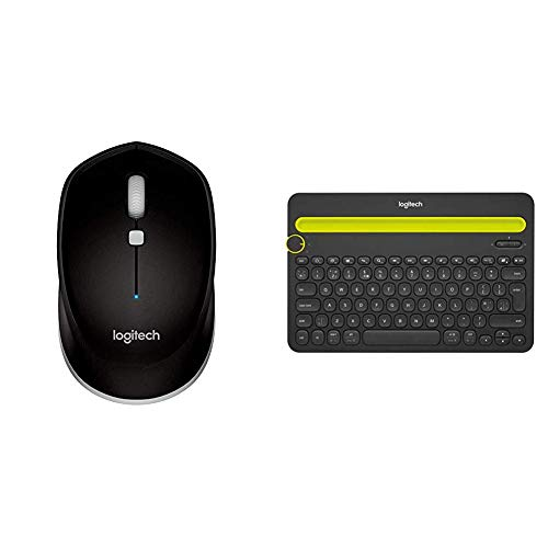 Logitech M535 Bluetooth Mouse – with 10 Month Battery Life Works & Bluetooth Multi-Device Keyboard K480 – Black