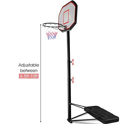 Kids Portable Height Adjustable Basketball Hoop Stand Backboard Indoor//Outdoor