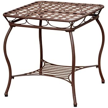 Iron 2 Tier Patio Side Table