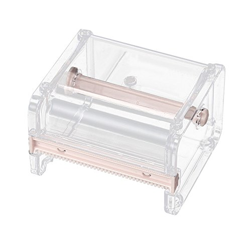 Alimao Desktop Tape 2019 New Dispenser Tape Cutter Dispenser Fashion Boutique Roll Tape Holder Storage Box Beige (Bicycle Tape Dispenser)