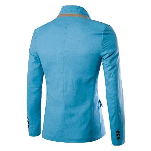 Da Cappotti Elegante Solido Giacche Kindoyo Blazer 1 Fit Uomo Pulsante Blu Casual Slim Un Abito Abiti xUEaFwT