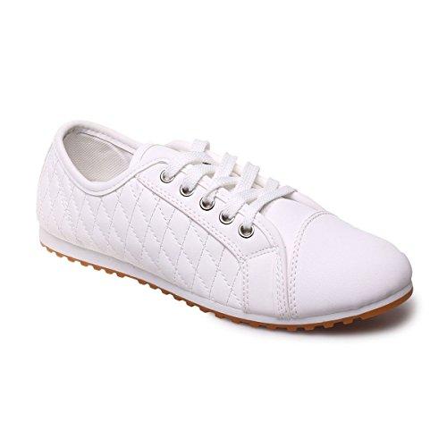 La Modeuse - Zapatillas de deporte para mujer blanco