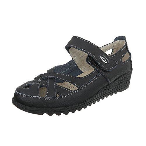 Zapatos para mujer Zapatos de tacon Plataforma Cuñas Ital-Design Schwarz 9003