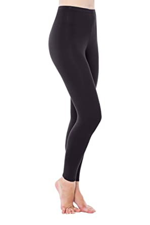 649ce3dadb2b61 LNBF Women's Viscose from Bamboo Full Length Leggings (XXXL, Black ...