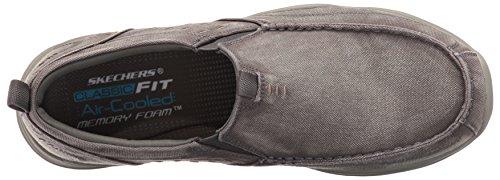 Skechers USA Uomo Larson Bolten Slip-On Loafer, tela grigia