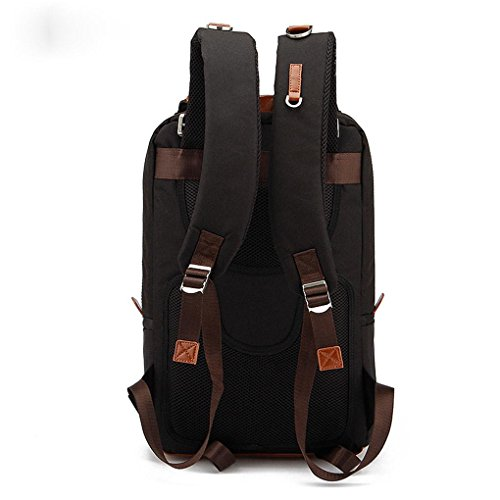Fen Damen und Herren Modelle Rucksack Korean Casual groß Computer Bag Oxford Tuch Wasserdicht Rucksack (schwarz, blau) schwarz schwarz schwarz