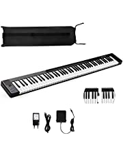 $129 » Costzon 88 Key Attachable Electric Piano Keyboard, Portable Full-Size Touch Sensitive Keys with 128 Rhythms/Tones, Stereo Speakers, Sustain Pedal, Bluetooth, Piano Bag for Beginners Kids Adult