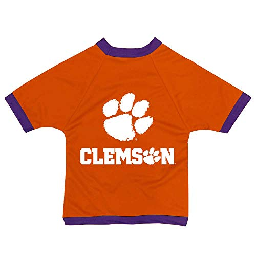 NCAA Clemson Tigers Athletic Mesh Dog Jersey (Team Color, Small) ()