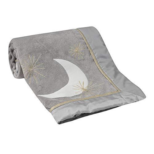 Lambs & Ivy Signature Goodnight Giraffe Moonbeams Blanket - Gray, Gold
