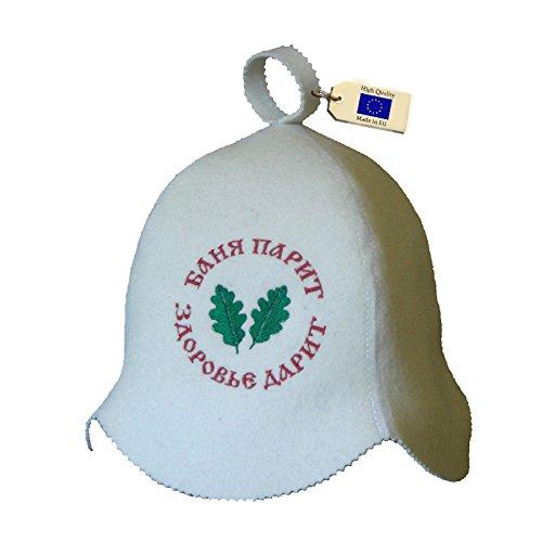 Allforsauna Sauna Hat Russian Banya Cap 100% Wool Felt Modern Lightweight Head Protection for Men and Women | Banya Parit