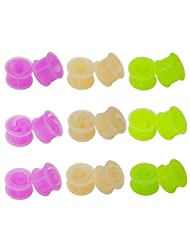 Gauges Area 18 Pieces Hollow Soft Silicone Ear Plugs Tunnels Gauges Set 3 Styles