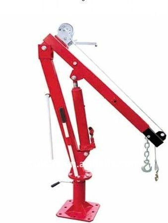 1100 Lbs Pickup Truck Crane with Cable Winch Foldable Swivel Lift Jack