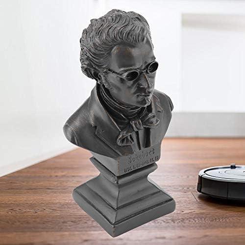 escultura tallada a mano Schubert nobrand Mozart Escultura Schubert Escultura M/úsico Famoso Mundial