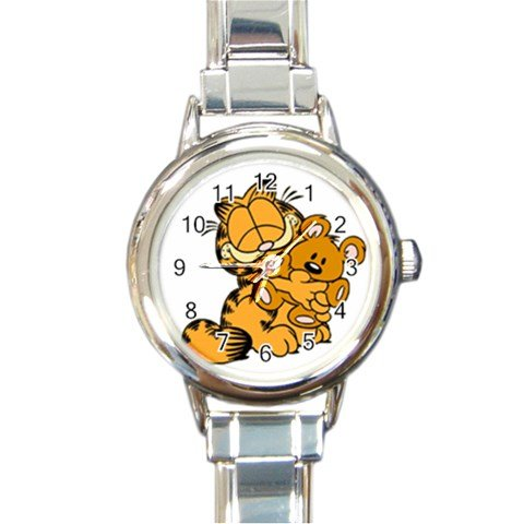 Garfield Lovely Round Italian Charm Watch