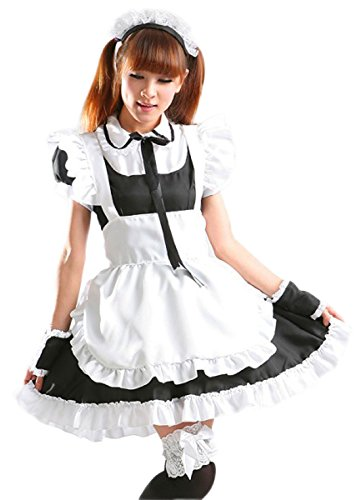 VSVO Women's Cosplay Lolita French Maid Costume Dress